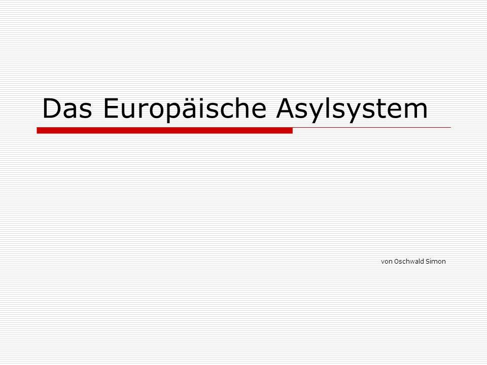 Das Europäische Asylsystem von Oschwald Simon