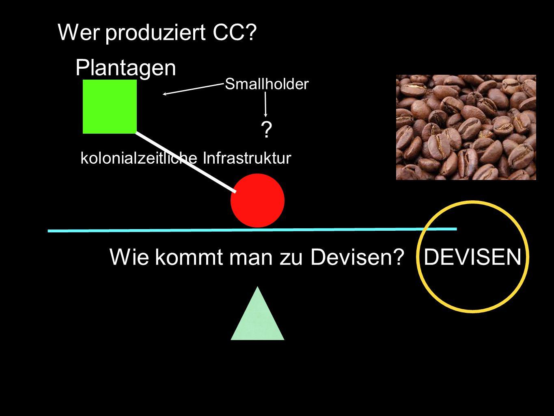 Wie kommt man zu Devisen DEVISEN Wer produziert CC.