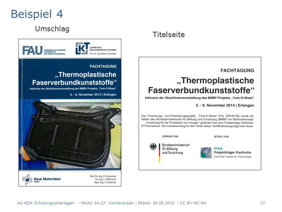 30 AlephRDAElementErfassung 3312.3.2Haupttitel $a Fachtagung Thermoplastische Faserverbundkunststoffe inklusive Abschlussveranstaltung des BMBF-Projekts Twin-O-Sheet , 5.–6.