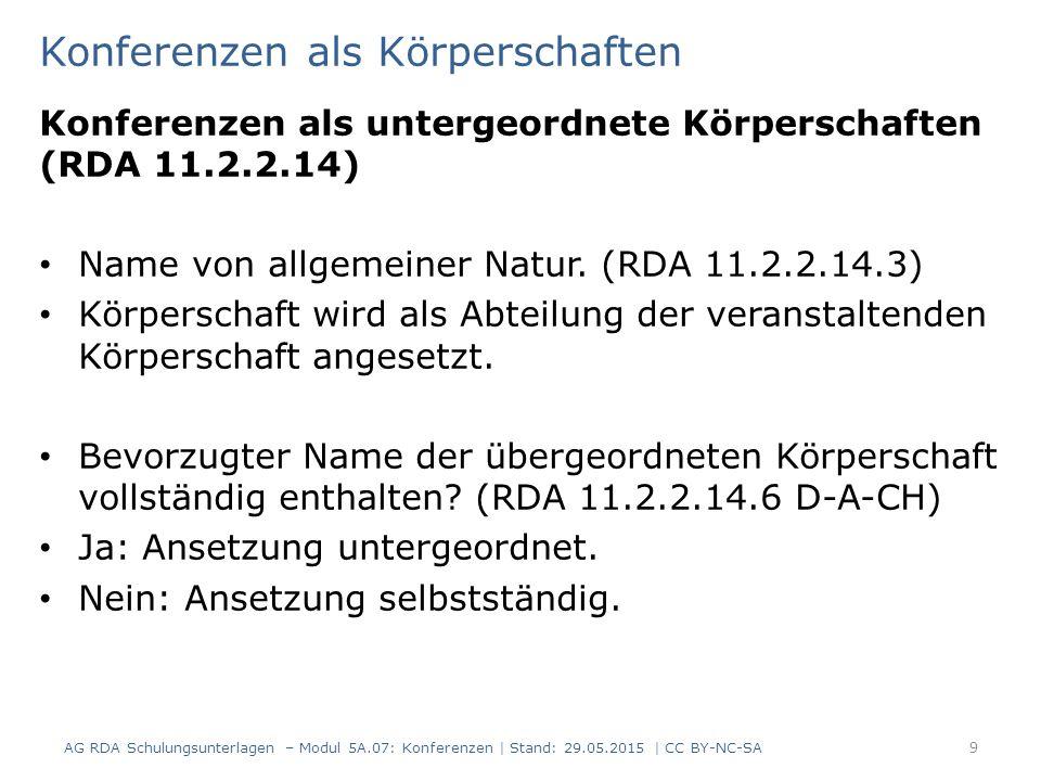 10 AlephRDAElementErfassung 11111.2.2 Bevorzugter Name der Körperschaft $e Deutsche Gesellschaft für Kleintiermedizin $b Jahreskongress $n 59.