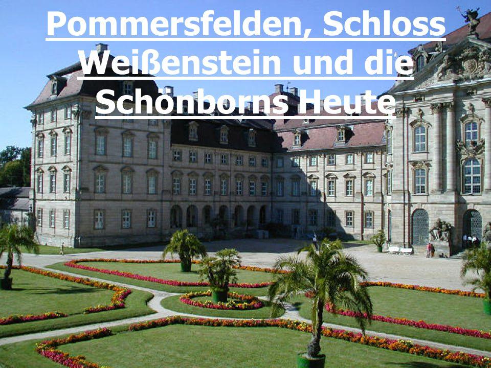 Die Schönborns Heute Geschäftsbereiche: Gesamtverwaltung aller Schönborn'schen Betriebe im Stammschloss in Wiesentheid.