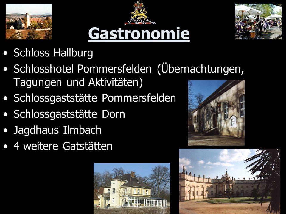 Gastronomie Schloss Hallburg Schlosshotel Pommersfelden (Übernachtungen, Tagungen und Aktivitäten) Schlossgaststätte Pommersfelden Schlossgaststätte D