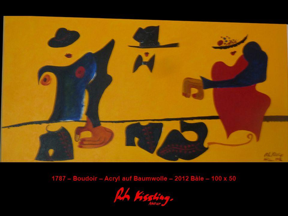 1787 – Boudoir – Acryl auf Baumwolle – 2012 Bâle – 100 x 50
