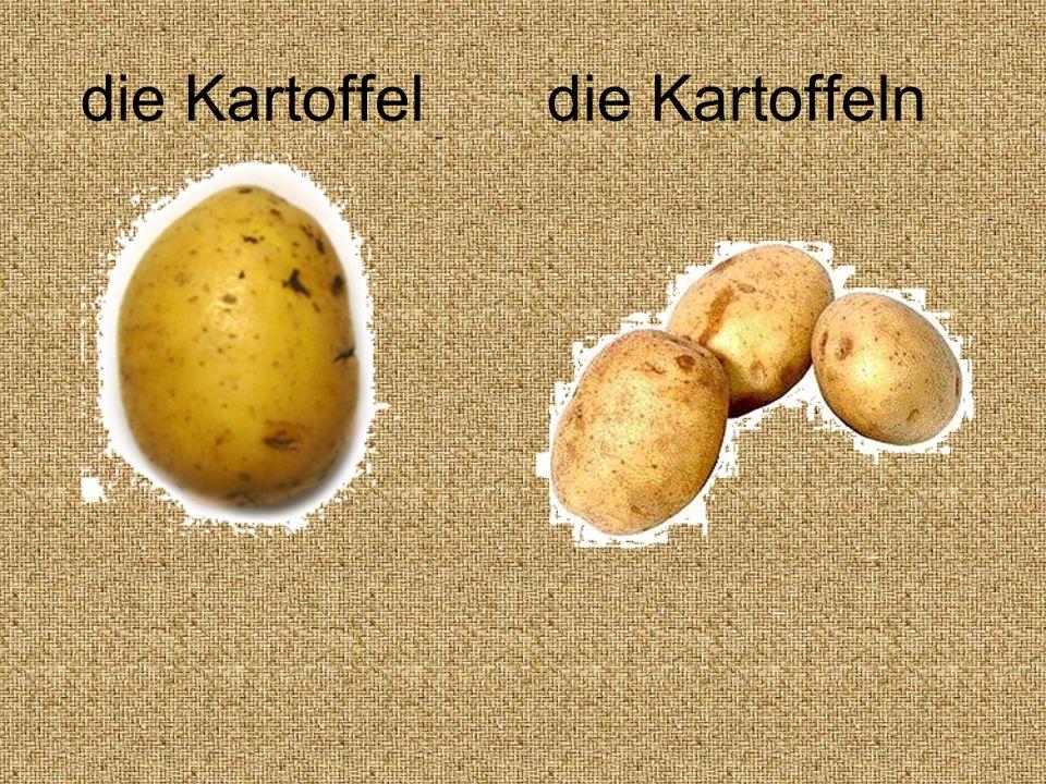 die Kartoffel die Kartoffeln