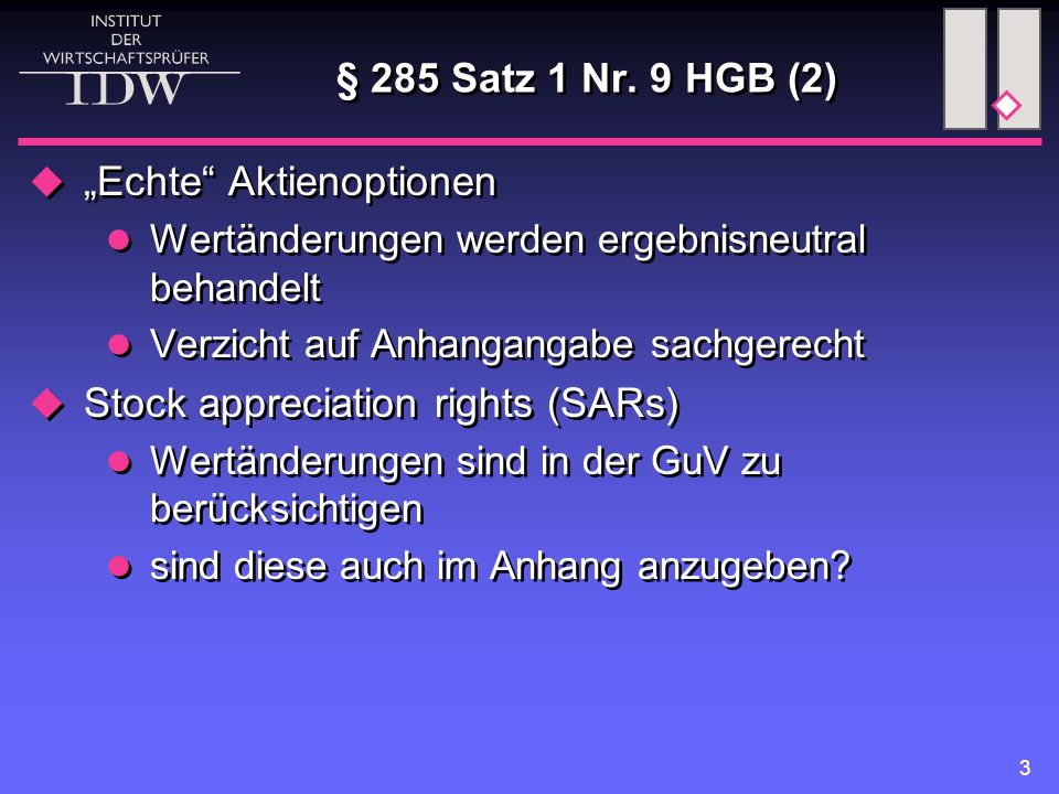 4 § 285 Satz 1 Nr.