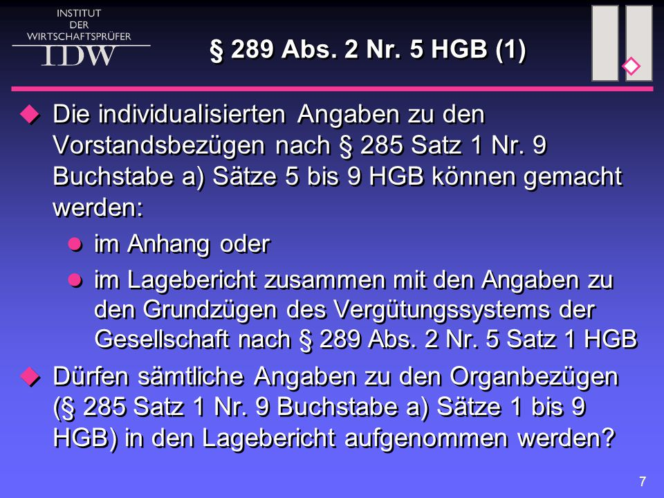 8 § 289 Abs.2 Nr.