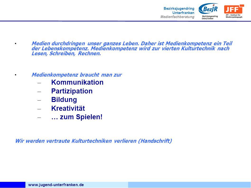 www.jugend-unterfranken.de Bezirksjugendring Unterfranken Medienfachberatung Bildnachweis: wikipedia, Eddau CC-By_SA