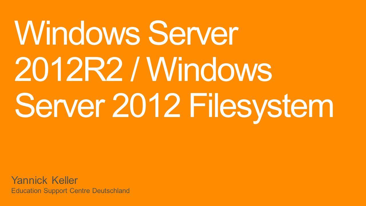 Übersicht ReFS BitLocker SMB Deduplizierung Storage Spaces / Storage Pools