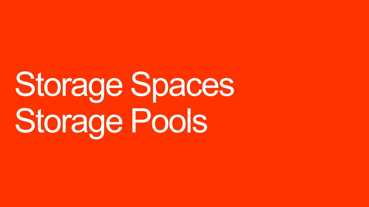 Storage Spaces Storage Pools