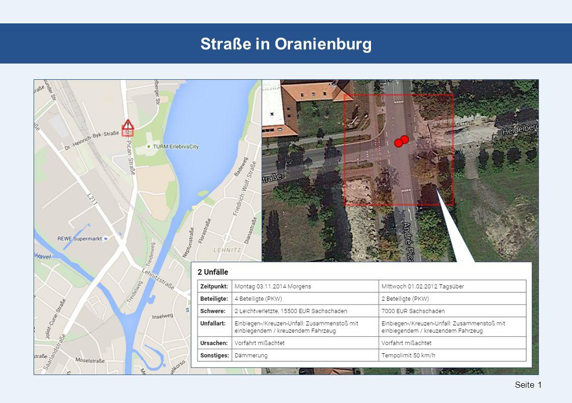 Seite 1 Straße in Oranienburg