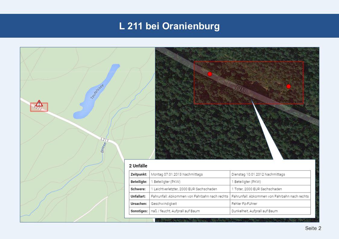 Seite 2 L 211 bei Oranienburg