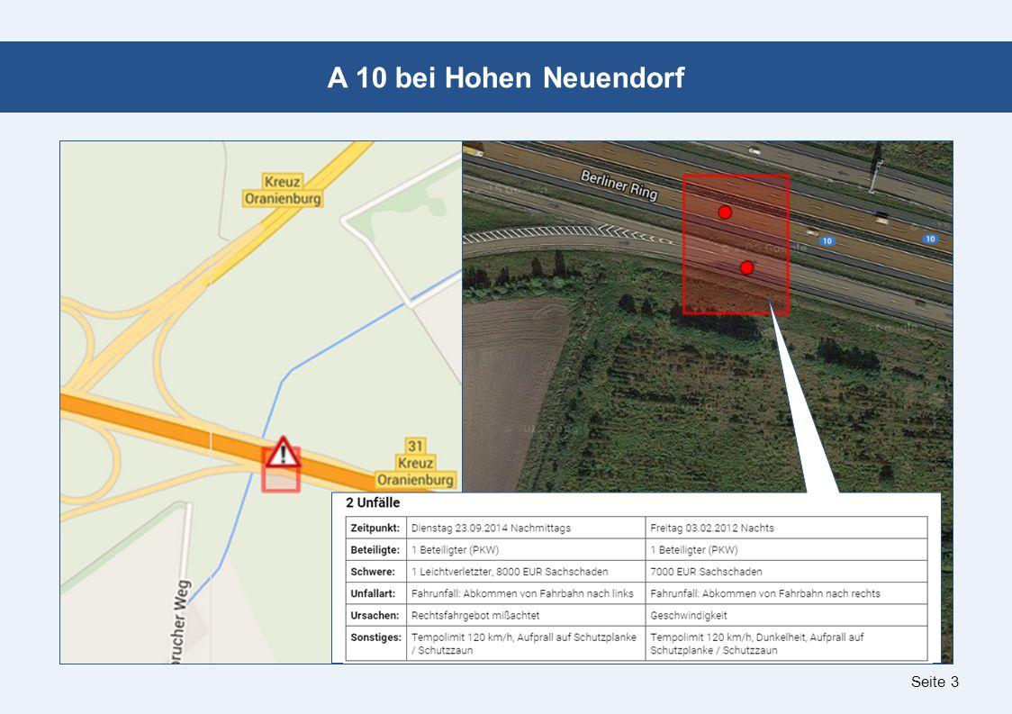 Seite 3 A 10 bei Hohen Neuendorf