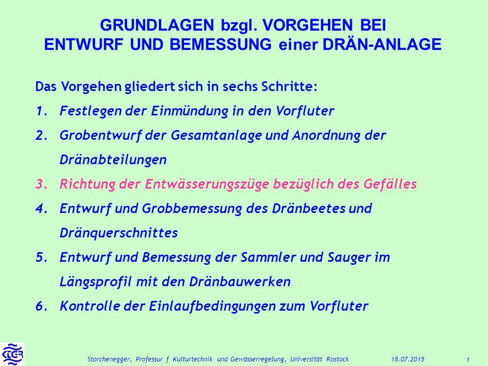 1 18.07.2015Storchenegger, Professur f Kulturtechnik und Gewässerregelung, Universität Rostock GRUNDLAGEN bzgl.