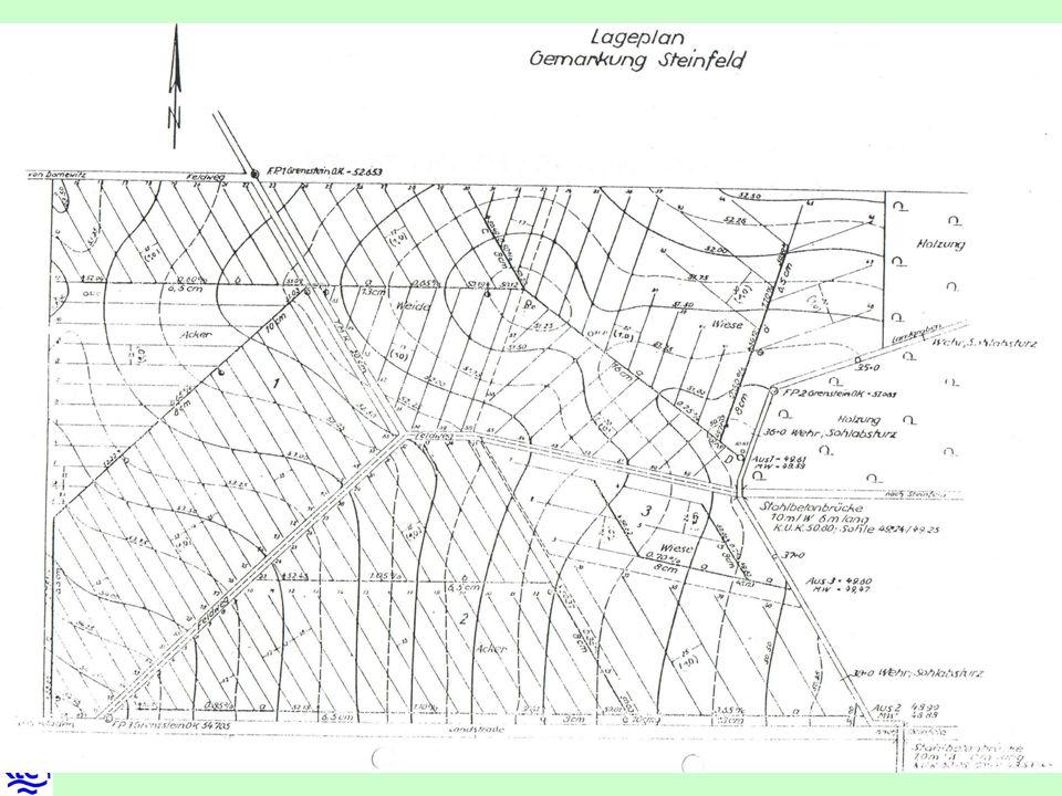 3.Richtung der Entwässerungszüge bezüglich des Gefälles