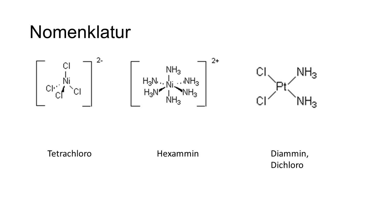 Nomenklatur TetrachloroHexamminDiammin, Dichloro