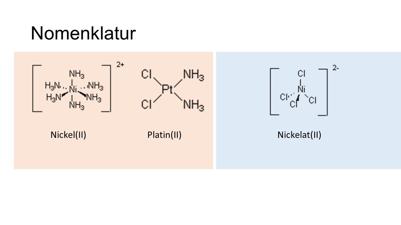 Nomenklatur Nickel(II)Platin(II)Nickelat(II)