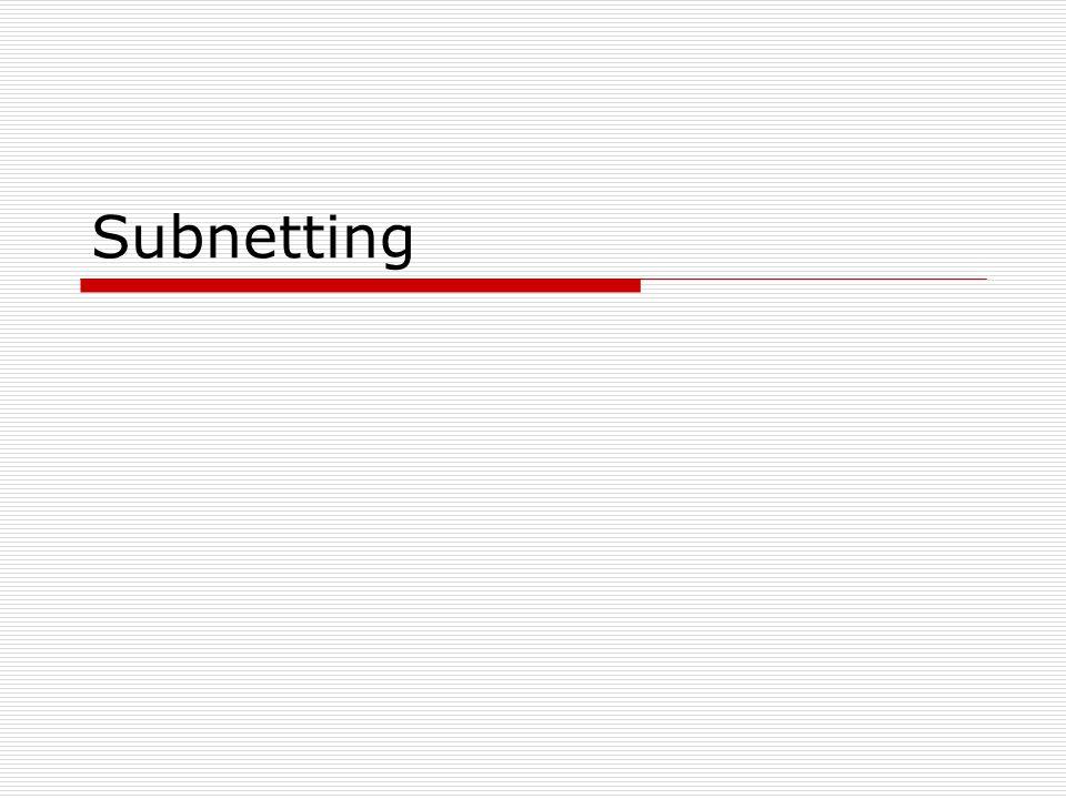 Aufgabe1  Subnetting (RFC950) Wir bekommen die IP- Adresse 192.168.100.0 und sollen mit ihr 4-Bit- Subnetting betreiben.
