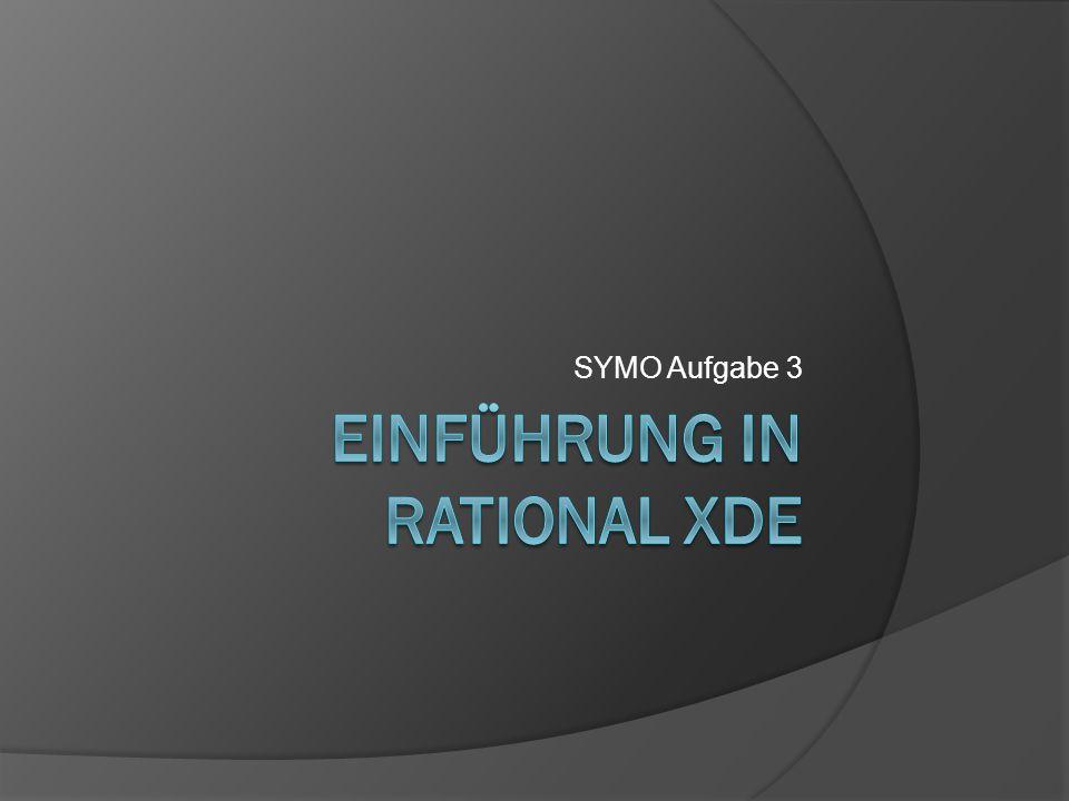 Möglichkeiten von Rational XDE  Automatische Codegenerierung  Reverse Engineering  Viele Dinge, von denen ich noch nie was gehört habe ;-)