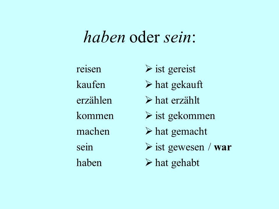 S. 10 Übung H 1. Gerhard und Uli haben gestern Bücher gelesen.