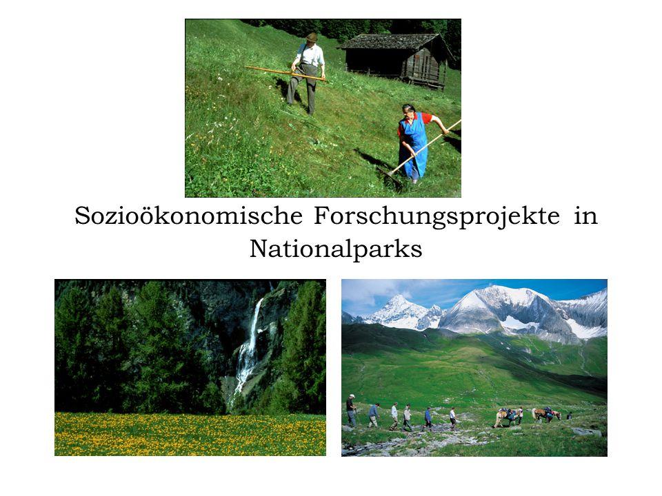 Sozioökonomische Forschungsprojekte in Nationalparks