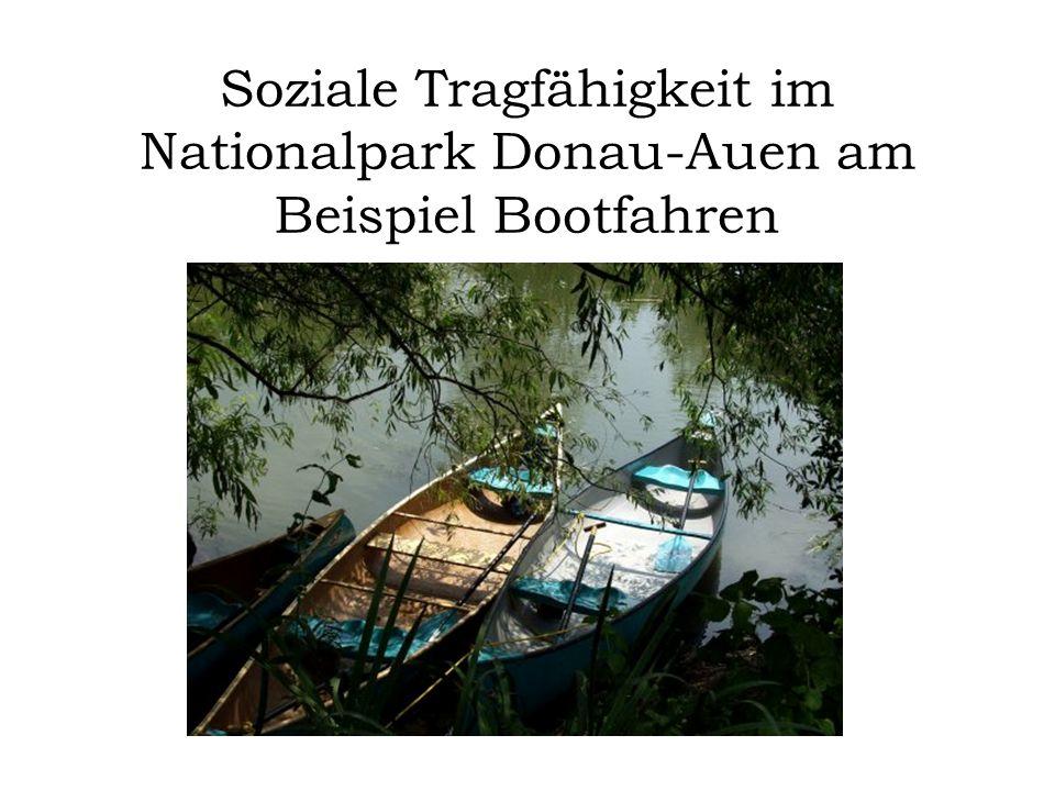 Soziale Tragfähigkeit im Nationalpark Donau-Auen am Beispiel Bootfahren