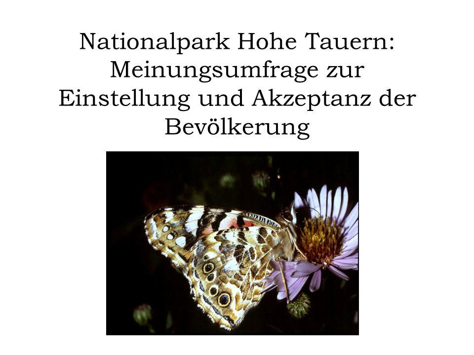 Nationalpark Hohe Tauern: Meinungsumfrage zur Einstellung und Akzeptanz der Bevölkerung