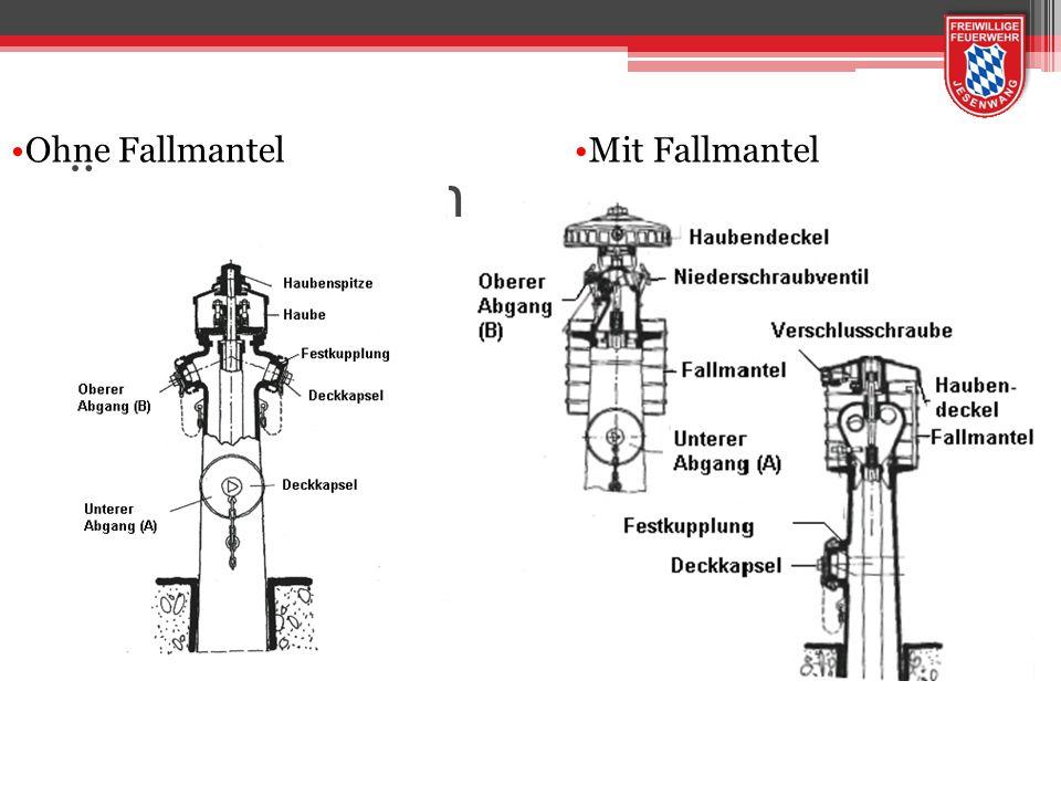 Überflurhydrantenaufbau Ohne FallmantelMit Fallmantel