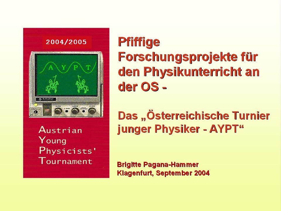 Die Fragestellung Was ist das Young Physicists' Tournament.