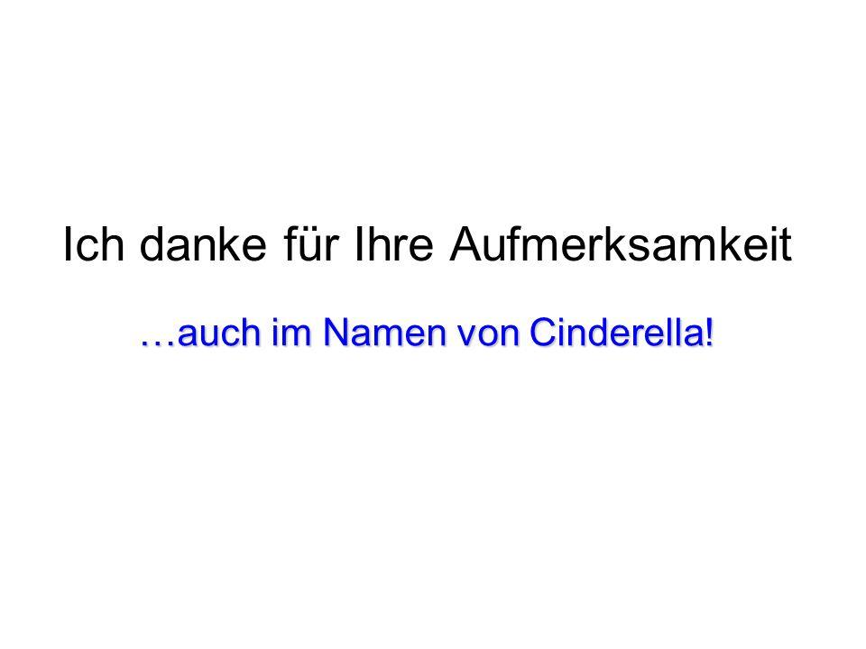 Ich danke für Ihre Aufmerksamkeit …auch im Namen von Cinderella!