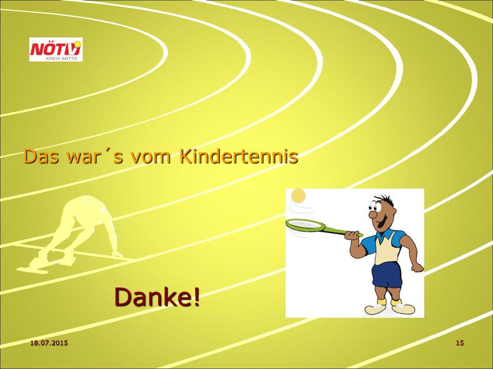 18.07.201515 Das war´s vom Kindertennis Danke!