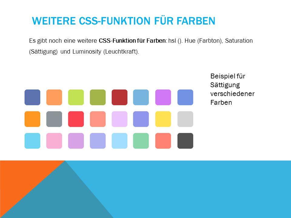 BSP.: TRANSPARENT Dieser Code führt dazu, dass die Farbe der Schrift transparent wird dennoch wenig denn opacity ist auf 0.9