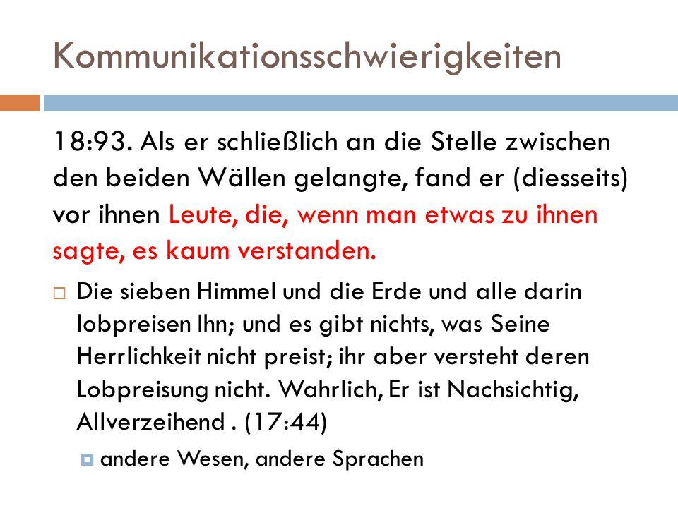 Kommunikationsschwierigkeiten 18:93.