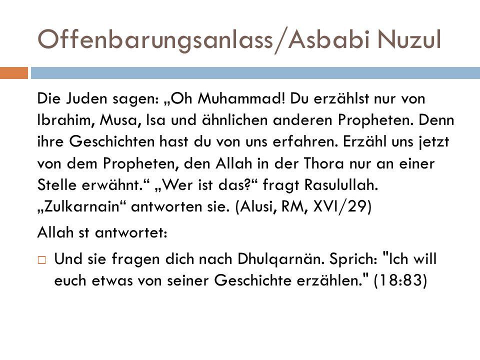 """Offenbarungsanlass/Asbabi Nuzul Die Juden sagen: """"Oh Muhammad."""