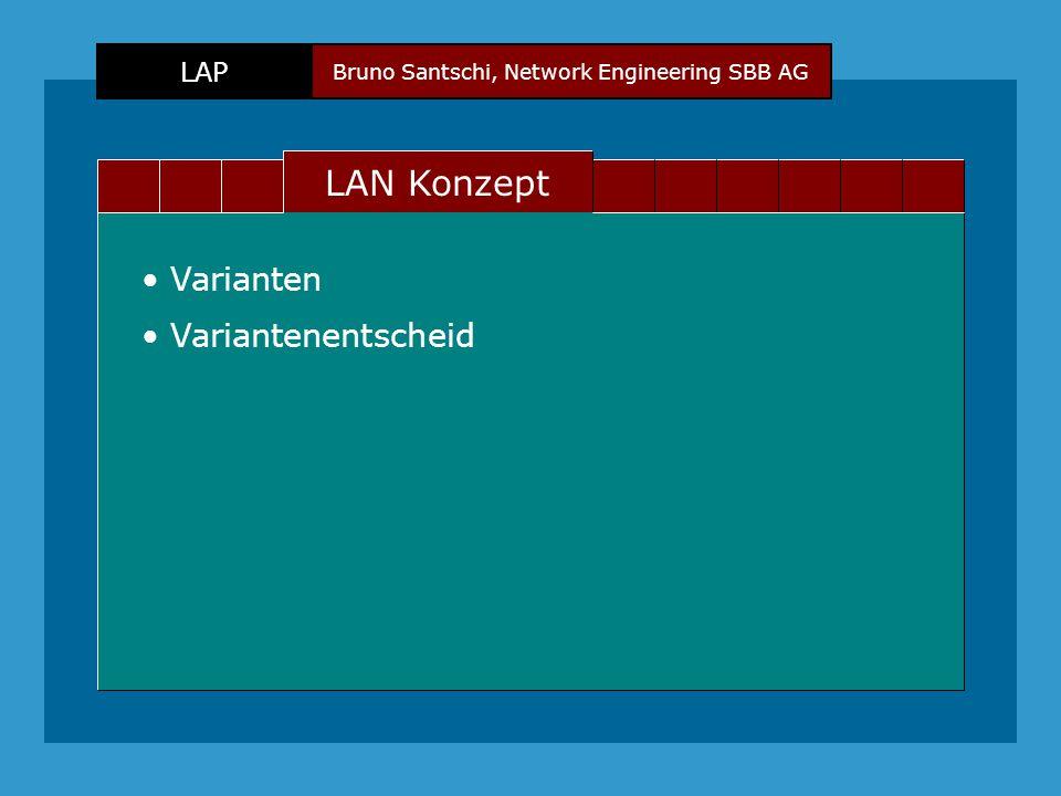 Bruno Santschi, Network Engineering SBB AG LAP Text LAN Konzept Varianten Variantenentscheid