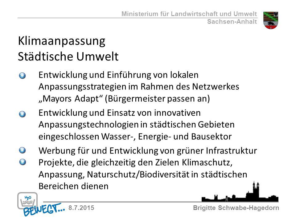 """Klimaanpassung Städtische Umwelt Entwicklung und Einführung von lokalen Anpassungsstrategien im Rahmen des Netzwerkes """"Mayors Adapt"""" (Bürgermeister pa"""