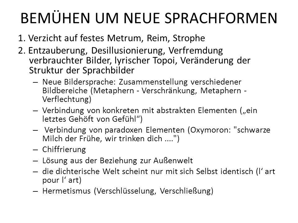 """3.Verwendung """"unlyrischer Sprachelemente: Fachsprache, Alltagssprache, Neologismen 4."""