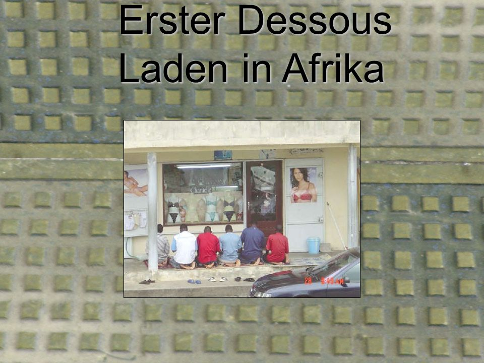 Erster Dessous Laden in Afrika