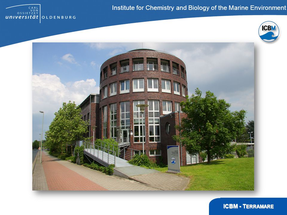 ICBM – T ERRAMARE, Wilhelmshaven Institute for Chemistry and Biology of the Marine Environment ICBM - T ERRAMARE Direktor des ICBM: Prof.