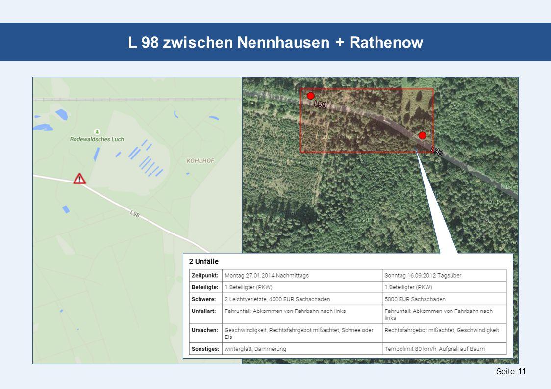 Seite 11 L 98 zwischen Nennhausen + Rathenow