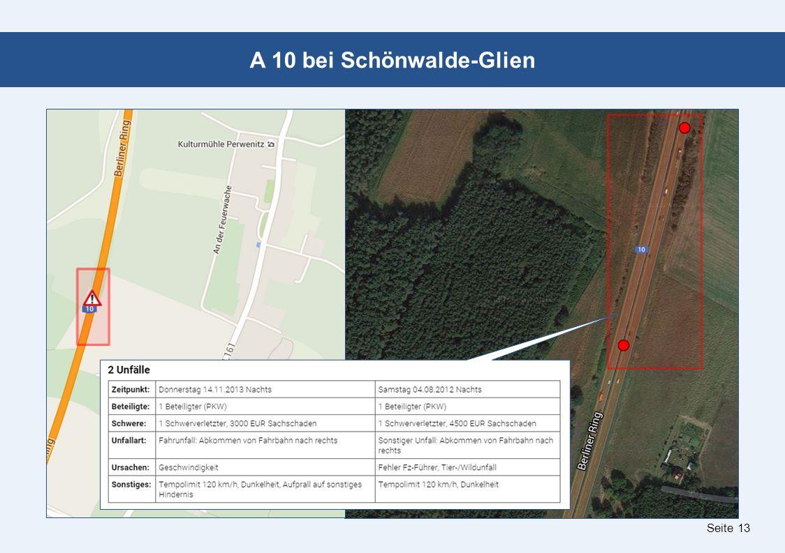 Seite 13 A 10 bei Schönwalde-Glien