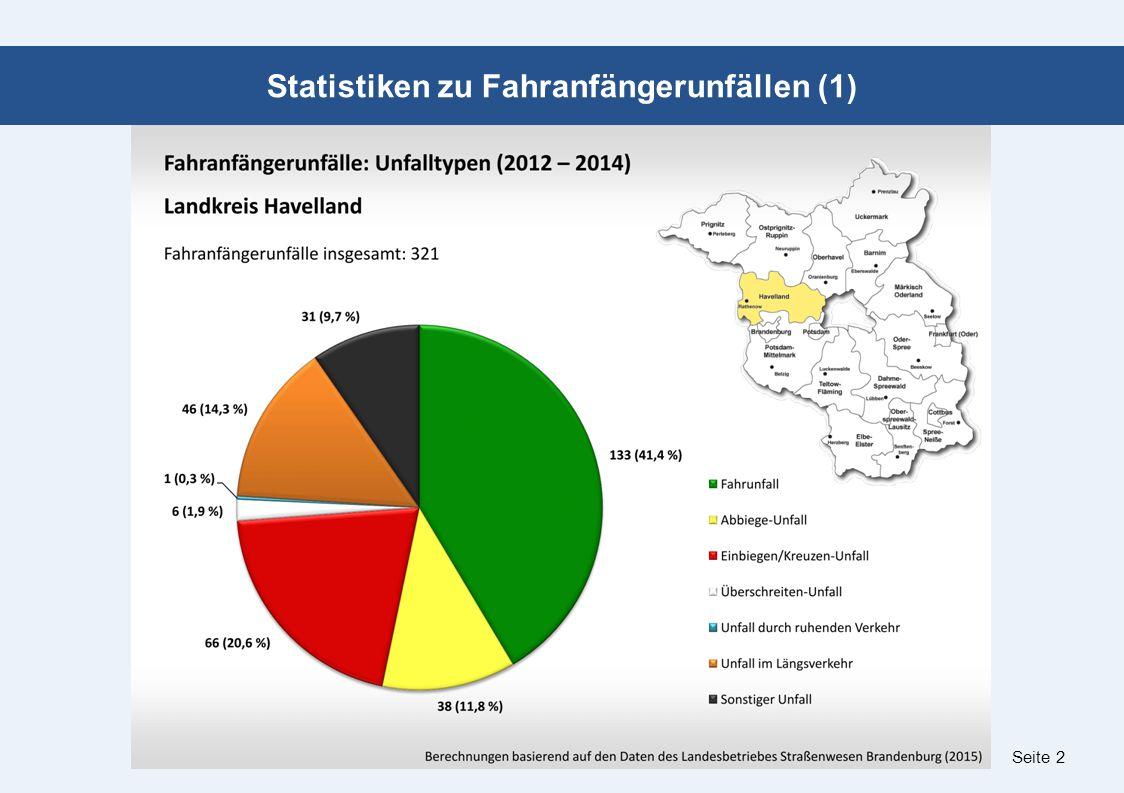 Seite 2 Statistiken zu Fahranfängerunfällen (1)