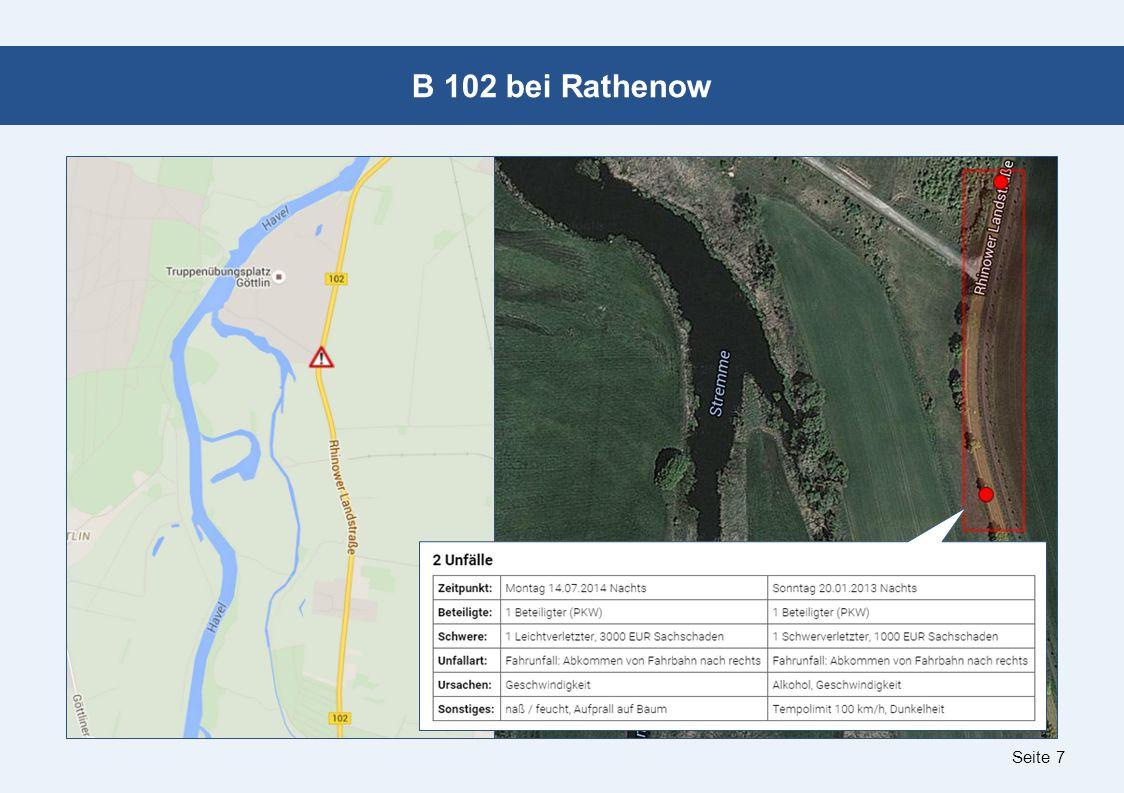 Seite 7 B 102 bei Rathenow
