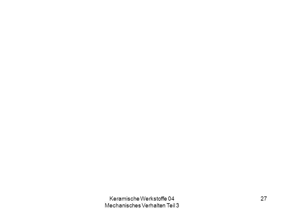 Keramische Werkstoffe 04 Mechanisches Verhalten Teil 3 27