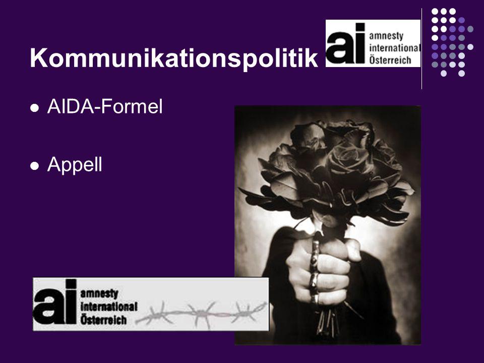 Kommunikationspolitik AIDA-Formel Appell