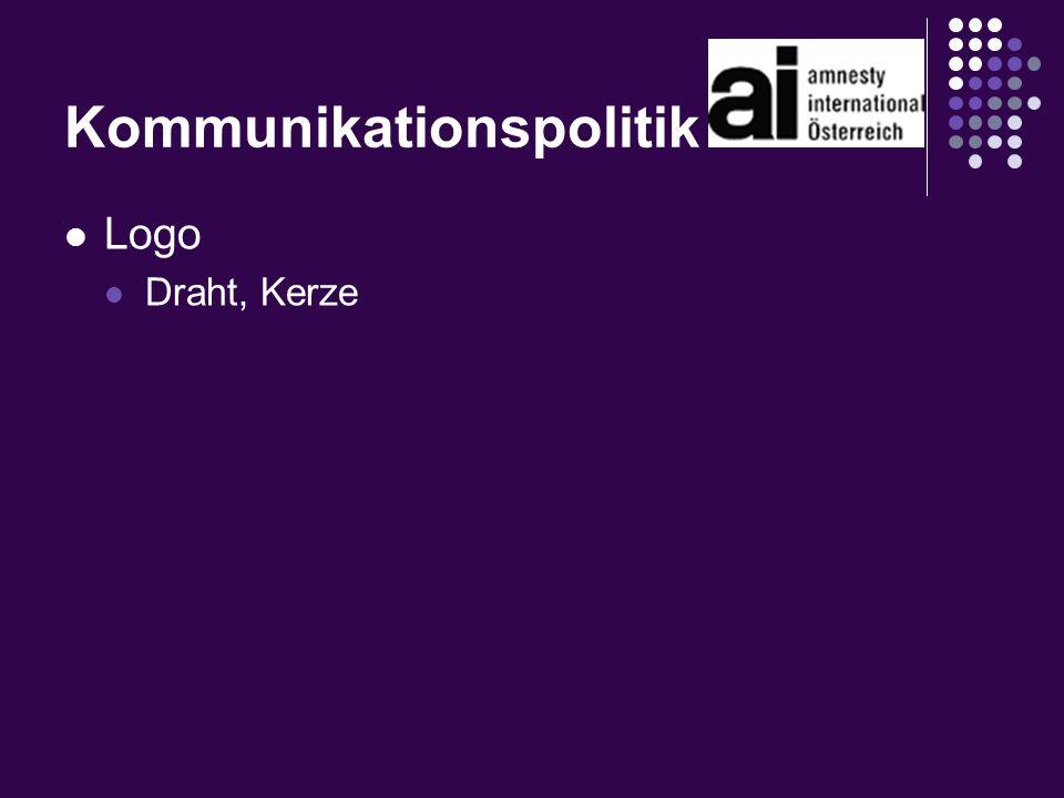 Kommunikationspolitik Logo Draht, Kerze