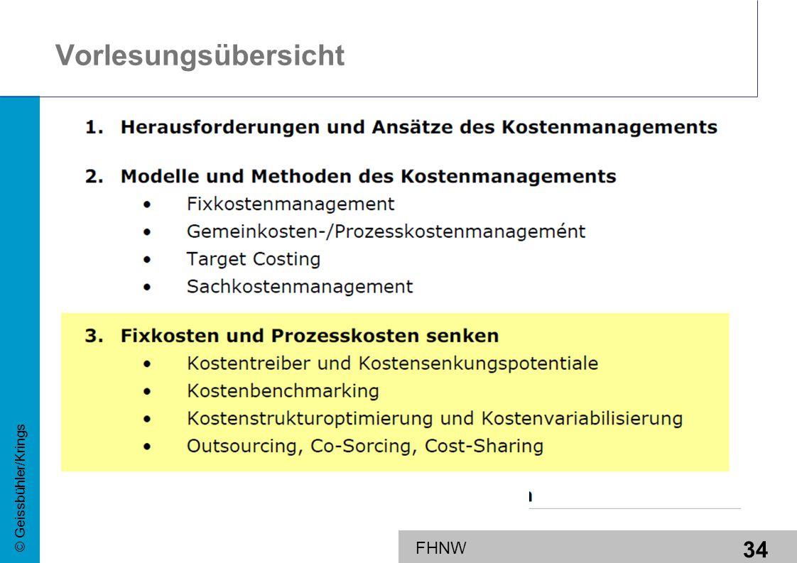 34 © Geissbühler/Krings FHNW Vorlesungsübersicht