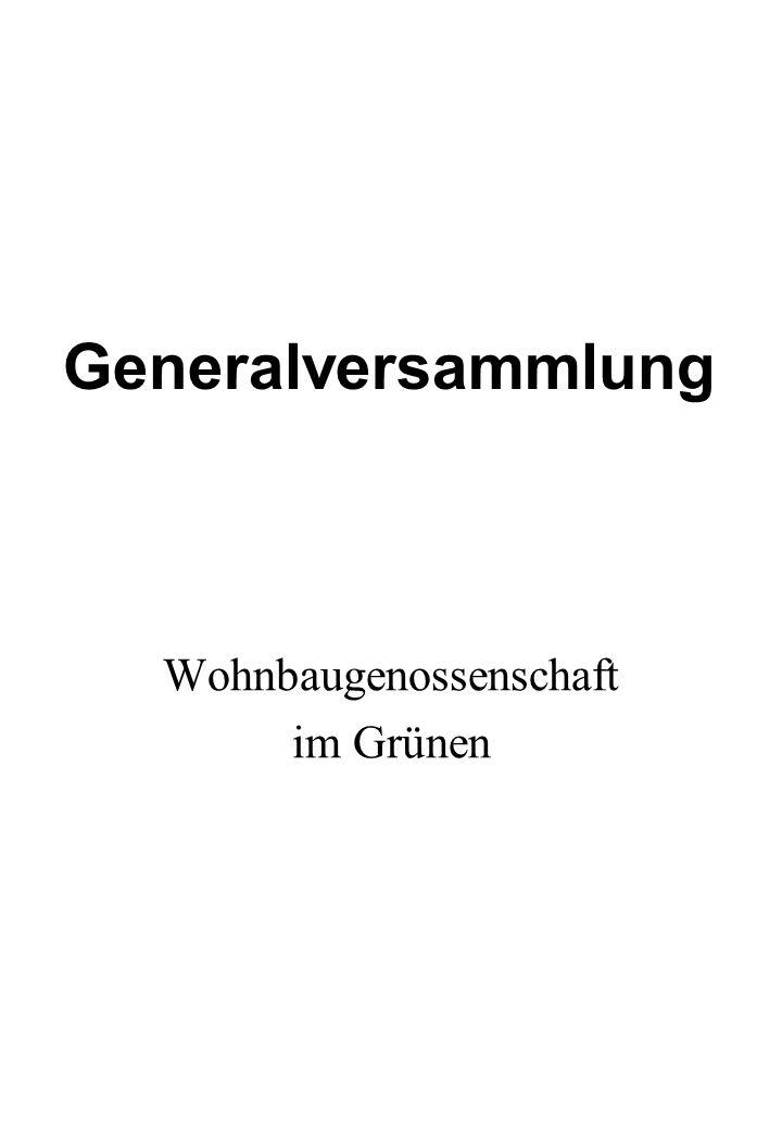 Wohnbaugenossenschaft im Grünen Generalversammlung