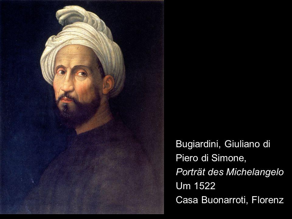 """""""Der Überbringer ist der Bildhauer Michelangelo, der gesendet wird, Sr."""