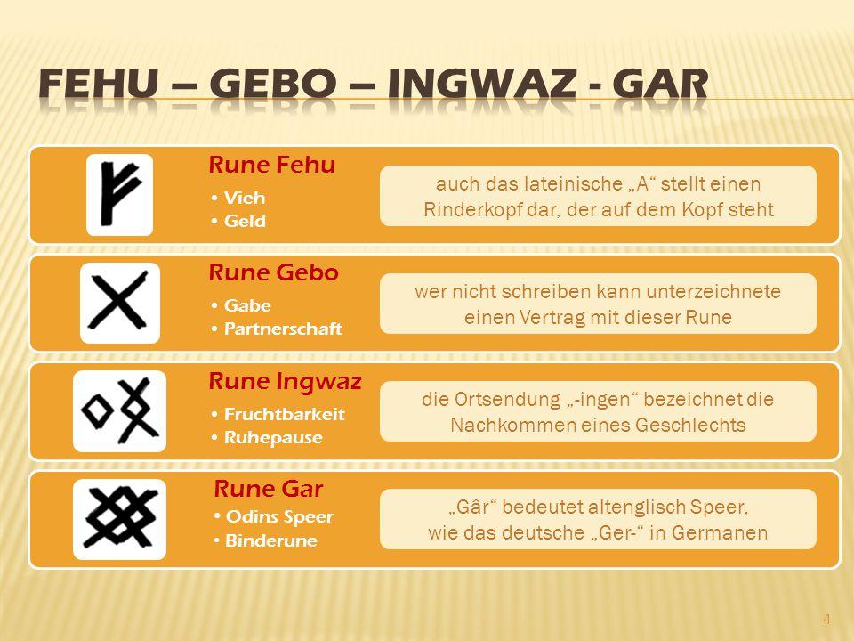 """Rune Fehu Vieh Geld Rune Gebo Gabe Partnerschaft Rune Ingwaz Fruchtbarkeit Ruhepause 4 auch das lateinische """"A"""" stellt einen Rinderkopf dar, der auf d"""