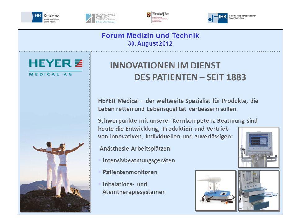 HEYER Medical – der weltweite Spezialist für Produkte, die Leben retten und Lebensqualität verbessern sollen.